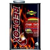 【10缶まで同梱可】SUNOCO(スノコ) REDFOX(レッドフォックス) RACING & SPORT(レーシング アンド スポーツ) 4サイクルオイル 0W-30 100%化学合成油 1L