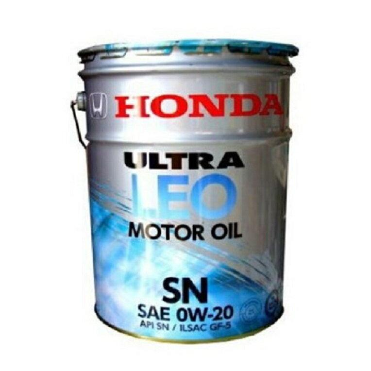 【同梱不可】HONDA ホンダ純正 ULTRA ウルトラ LEO SN GF-5 0W20 ガソリンエンジンオイル 20L