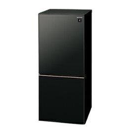 【送料無料(一部地域を除く)】137Lシャープつけかえどっちもドア冷蔵庫SJ-GD14E-B(ピュアブラック)