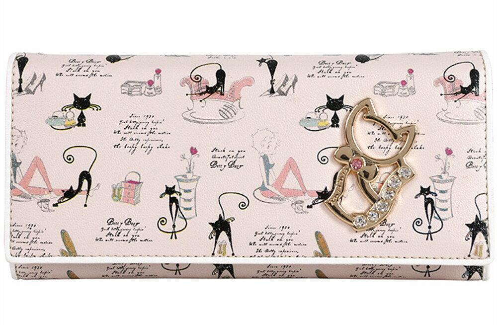 フェアーフェアリー Fair Fairy レディース財布 かわいい猫の財布 二つ折り 長財布 L字ファスナー 猫の長財布 レディース長財布 二つ折り財布 L字ファスナー 猫 財布 長財布 レディース 女性用 おしゃれ ねこ ネコ
