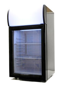 SIS エスアイエスディスプレイクーラーショーケース冷蔵庫容量40L 右開きカラー:ブラックSC40B【代引き不可】【沖縄・離島配送不可】