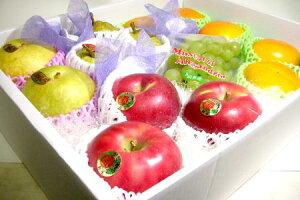 【送料無料】フルーツセット 化粧箱 少し豪華版 約4kg 〔ご贈答おすすめ果物です〕旬なフルーツを化粧箱に詰め合わせました!ギフト箱 プレゼント【ラッキーシール対応】