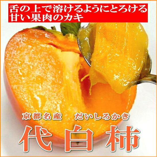 京都名産 代白柿(だいしろかき)大玉 8個入り カキ 【ラッキーシール対応】