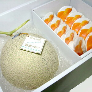 マスクメロン 1.5kg「白級」静岡産・北海道 ホリ 夕張メロン ピュアゼリー10個入りセット 化粧箱 ●ご贈答おすすめ果物です|高級メロン ギフトセットです