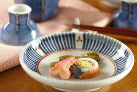 【砥部焼 梅山窯】とくさみつ紋の取皿(4,6寸)