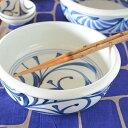 【砥部焼 梅山窯】外底からくさの切立鉢(7寸)
