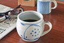【砥部焼 梅山窯】太陽柄の丸ミルクカップ