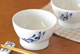 【砥部焼 千山窯】青からくさの茶碗(小)