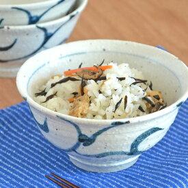 【砥部焼 山中窯】ごす唐草の茶碗