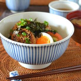 【砥部焼 梅山窯】とくさ柄の丼鉢(5.2寸)