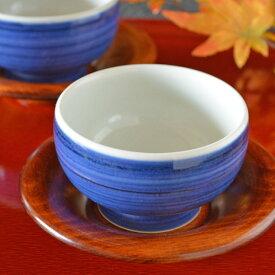 【砥部焼 梅山窯】藍色の手引丸湯呑