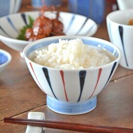 【砥部焼 岡田陶房】青赤線の茶碗(小)