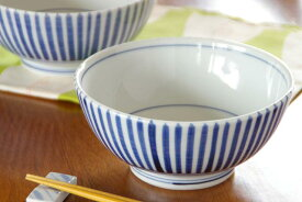 【砥部焼 千山窯】とくさ柄のうどん鉢