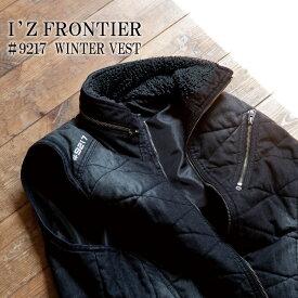 【アイズフロンティア I'Z FRONTIER】【防寒着・防寒ベスト】9217 デニム防寒ベスト・ウィンターベスト05.ブラック/11.インディゴブルー作業着・防寒着