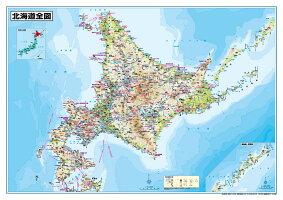ホワイトボードラミネート北海道全図ポスター(B1判)