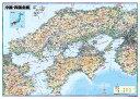 中国四国全図(地図)ポスター(B1判)【2019年最新版!】表面ビニールコーティング加工※水性ペンが使えます