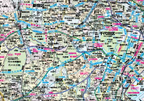 東京23区全図パネル(B1判)