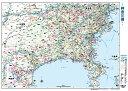 神奈川県全図(地図)ポスター(B1判)【2017年最新版!】表面ビニールコーティング加工※水性ペンが使えます