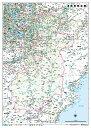 奈良県全図(地図)ポスター(B1判)【2012年版】表面ビニールコーティング加工※水性ペンが使えます