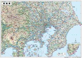 ホワイトボードラミネート南関東全図ポスター(B1判)