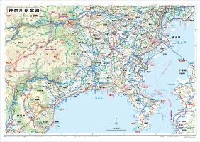 ホワイトボードラミネート神奈川県全図ポスター(B0判)
