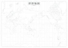 日本白地図5枚セット
