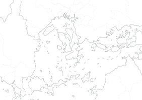 中国四国白地図パネル(B1判)