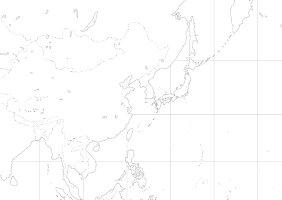 A0判世界白地図ポスター