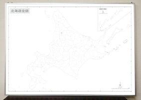 北海道白地図パネルB1