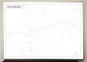 中国四国白地図パネルB1