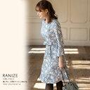 【ranize ラニーゼ】tocco closet(トッコクローゼット) Collection野崎萌香さんはブルー着用ワンピース フラワープリ…