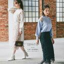 甘く優しい美人感が魅力のリボンレースタイトスカート【sepatis セパティス】tocco closet(トッコクローゼット)  グ…