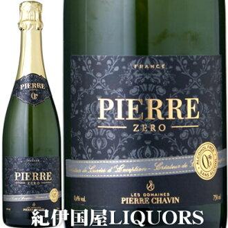 是皮埃尔·零勃朗·do·勃朗[NV]白辣味750ml furansurowaru SARL Domaines Pierre Chavin Pierre Zero Blanc de Blancs葡萄酒味道非·酒精!