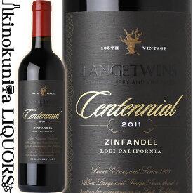 ランゲ ツインズ センテニアル・ジンファンデル [2011] 赤ワイン フルボディ 750ml / アメリカ カリフォルニア ローダイ ヨハン・ヴィンヤード Lange Twins Family Winery & Vineyards / Lange Twins Centennial Zinfandel
