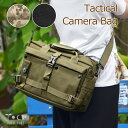 一眼レフ 多機能カメラバッグ 取り外し可能なインナークッション2個付き 一眼レフを衝撃から守る カメラ本体+交換レンズ2〜3本収納 ショルダーバッグ グリーン/ブラック/迷彩