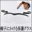 日本光材 帽子にかける保護グラス (目を保護するグラス 保護めがね メガネ 眼鏡)