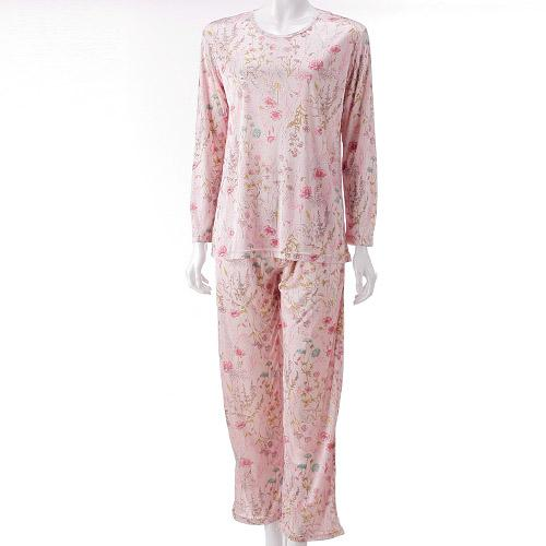 ポーチ付き 携帯パジャマ「ボタニカル柄(ピンク)」 【エトワール海渡】