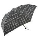 【w.p.c】 晴雨兼用 軽量ラージ 折傘「リボンチェック(ブラック)」
