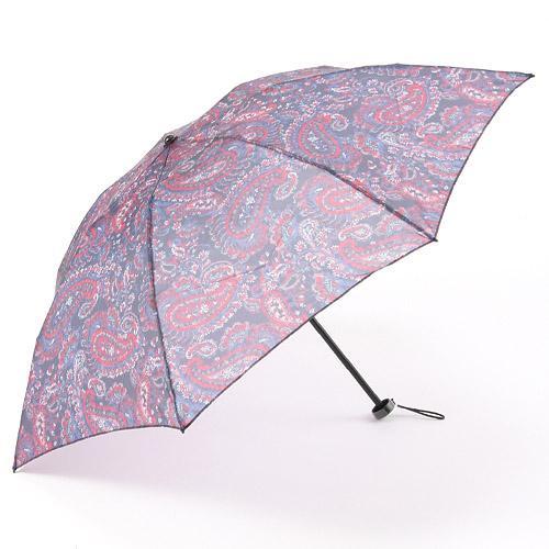 【日本製】オーガンジー晴雨兼用折傘「リバペイズリー(ブラック)」