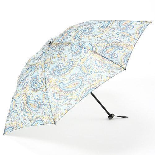 【日本製】オーガンジー晴雨兼用折傘「リバペイズリー(スカイブルー)」