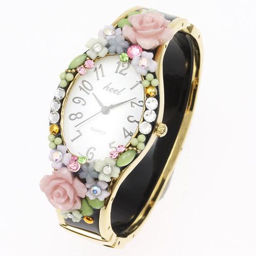 デコレーション時計「バラ花」【エトワール海渡】