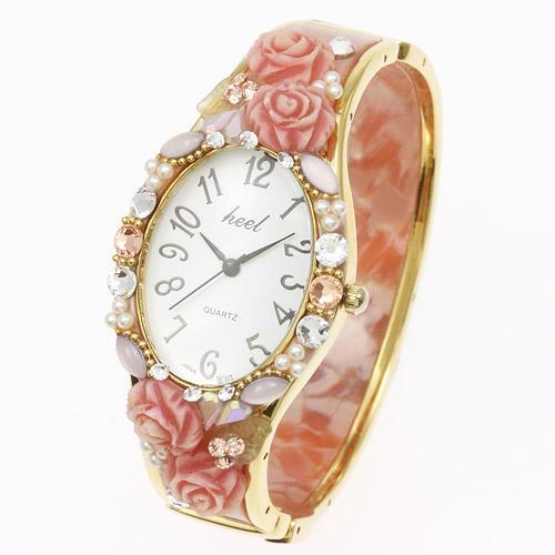 デコレーション時計「小バラ」【エトワール海渡】
