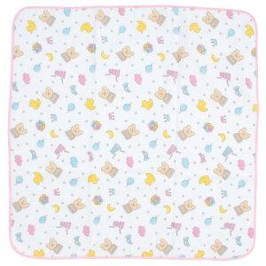 今治産(日本製)レインボーベアガーゼタオルおくるみ「チャーム(ピンク)」【エトワール海渡(ETOILE)】【ご出産祝い・出産内祝い・入園・入学・新学期・卒園・プチギフトに】