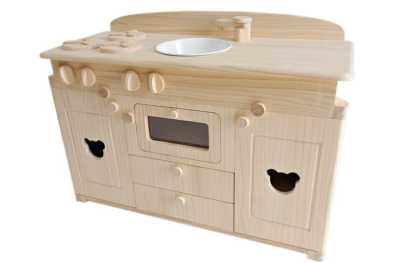 トッドルの木製おままごとキッチン(大)