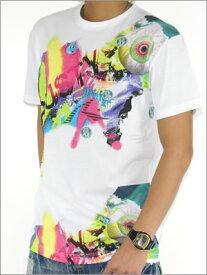 【RUSTY】ラスティメンズ TEEシャツサイケグラフィック登場![WHITE]定価¥3800(税別)