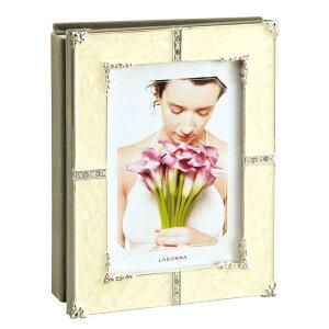 アルバムフレーム AMJ62-P-WH | 写真立て フォトフレーム 写真たて 写真入れ ブライダル 結婚祝い 出産祝い 誕生日 ウェディング 結婚式 アルバム ポストカード 80枚 ホワイト かわいい 上品 お