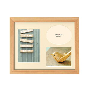 ウッドフレーム DF43-06 | 写真立て フォトフレーム 写真たて 写真入れ 木製 リビング インテリア 天然木 階段状フレーム 立体的 シンプルデザイン 贈り物 贈答品 引越し祝い 誕生日 置き掛け