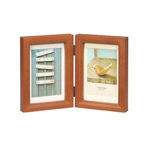 ウッドフレーム DF43-PD | 写真立て フォトフレーム 写真たて 写真入れ 木製 リビング インテリア 天然木 階段状フレーム 立体的 シンプルデザイン 贈り物 贈答品 引越し祝い 誕生日 ポストカ