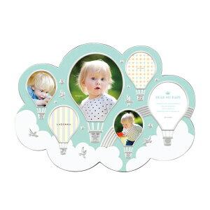 ベビーフレーム LB37-60 | 写真立て フォトフレーム 写真たて 写真入れ 赤ちゃん 雲モチーフ かわいい 気球 空 ユニーク ミニサイズ 置き掛け兼用 贈り物 出産祝い 誕生日 おしゃれ ギフト プレ