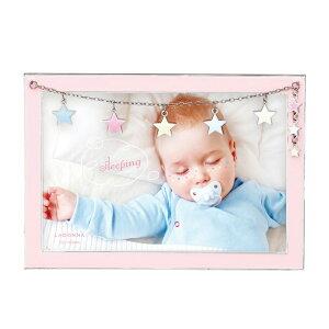 ベビーフレーム MB96-P 写真立て フォトフレーム 写真たて 写真入れ ベビー 赤ちゃん 星型チャーム ミルキーカラー かわいい ポストカード 出産祝い 贈り物 誕生日 おしゃれ ギフト プレゼン